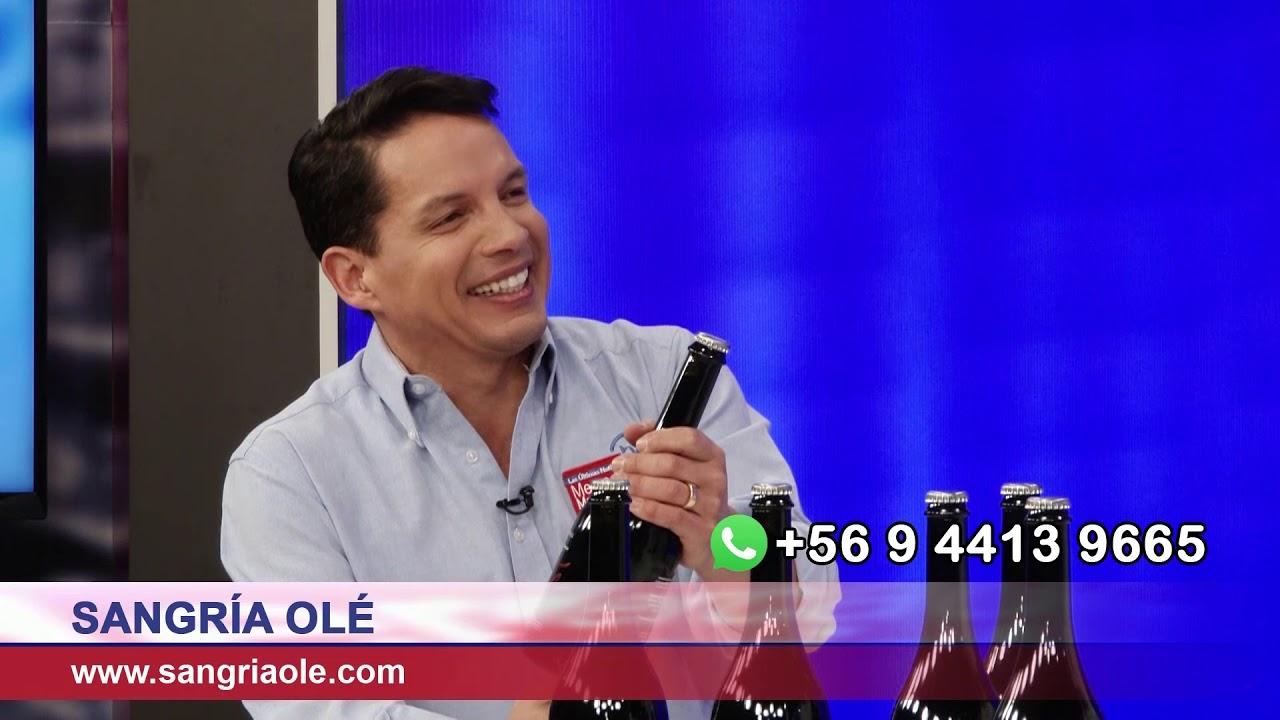 """""""Olé"""" es la primera sangría artesanal embotellada de Chile"""