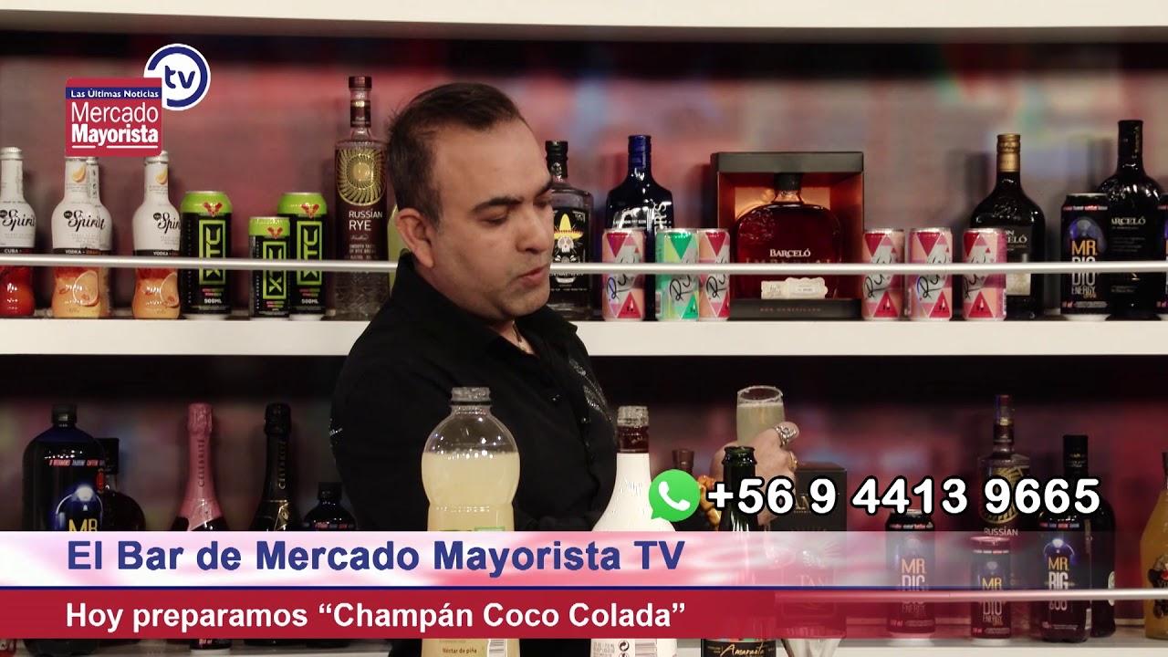 """Prepara un """"Champán Coco Colada"""" de Don Harry junto al bar de Mercado Mayorista TV"""