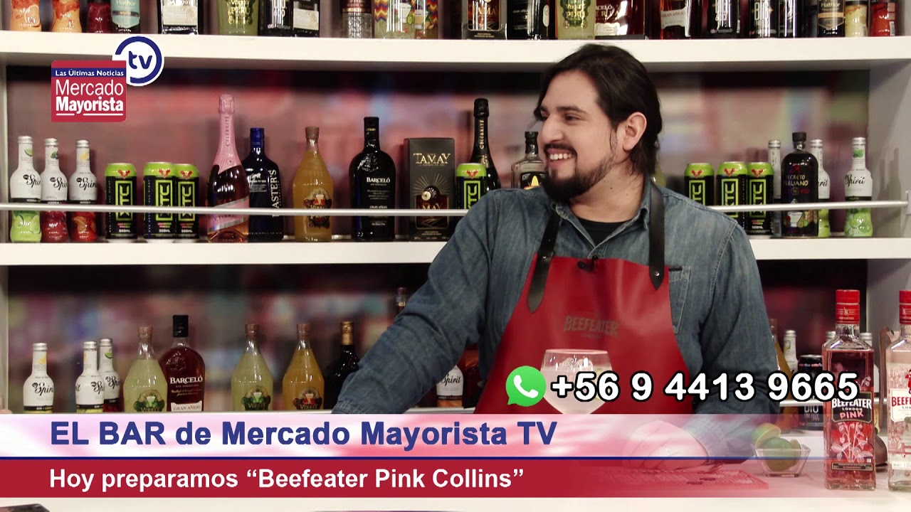 """Prepara un """"Beefeater Pink Collins"""" junto al bar Mercado Mayorista TV"""